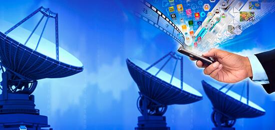 Satellite Dish and Smartphone