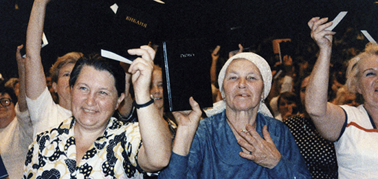 Women listening to God's Good News