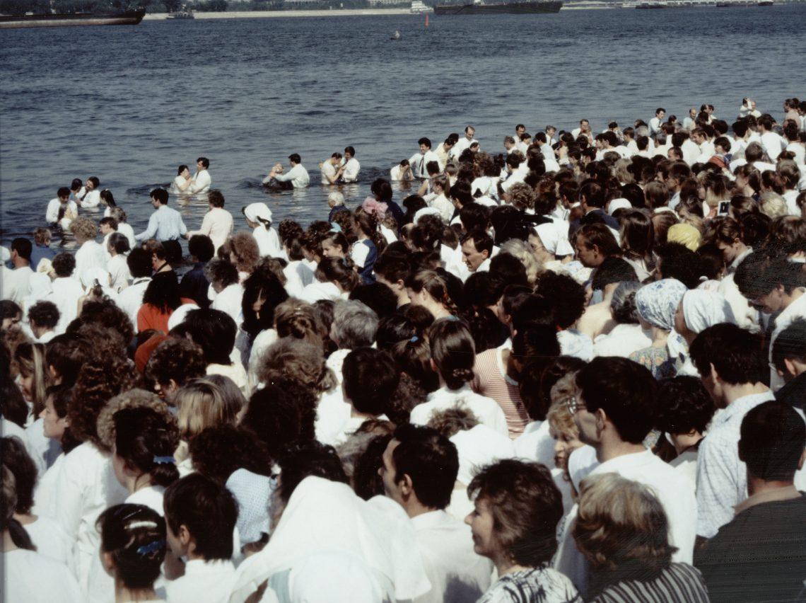 Baptism in Volga River