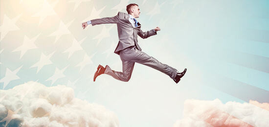 Man Leaping