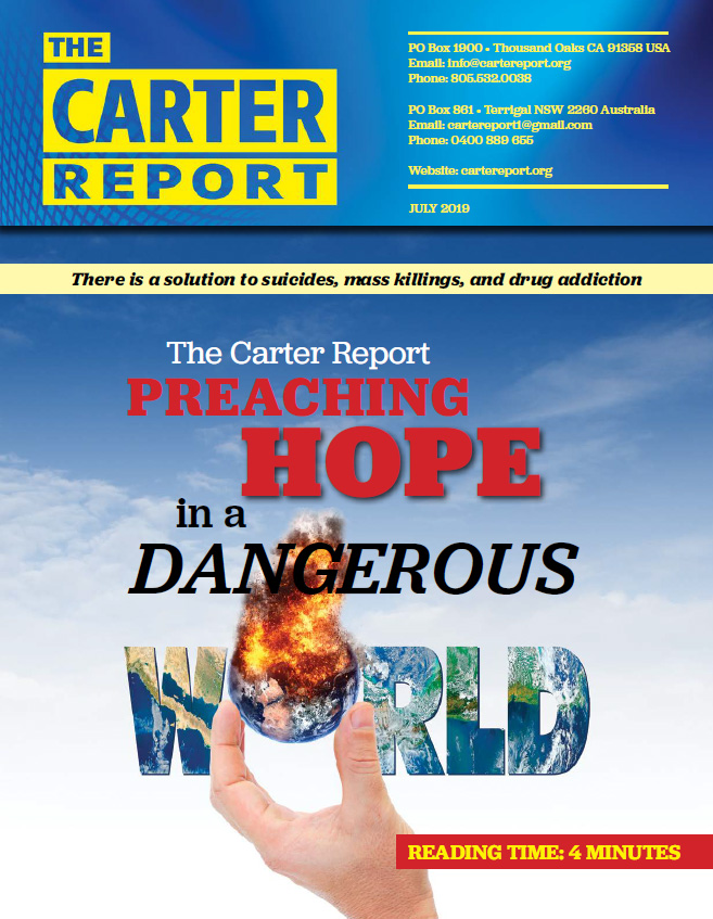 Carter Report July 2019 Front Page