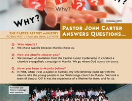 Carter Report October 2019 Front Page