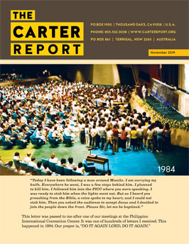 Carter Report November 2019 Front Page